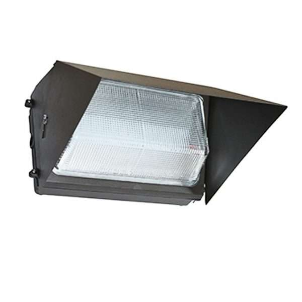 90w-wall-pack led parking lot light-with-light-sheild