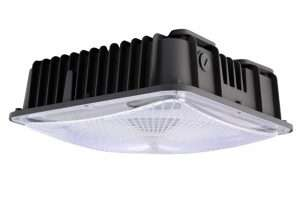 Motion sensor-garage lights LED-Canopy-Light-black-finish