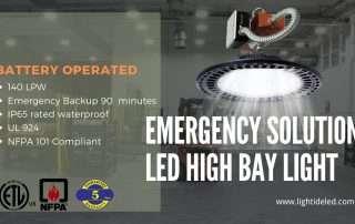 Lightide DLC-CE Emergency led high bay light battery backup 60W-240W