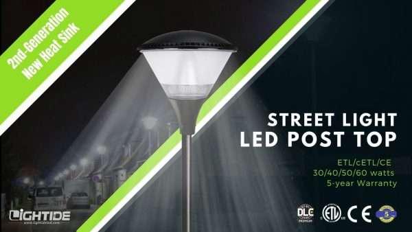 Lightide 2nd-gen PTA series led post top street lights