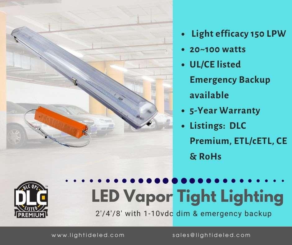 Lightide DLC_CE Listed LED Vapor Tight Lights