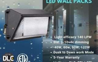 Lightide DLC QPL Wall Pack LED Light