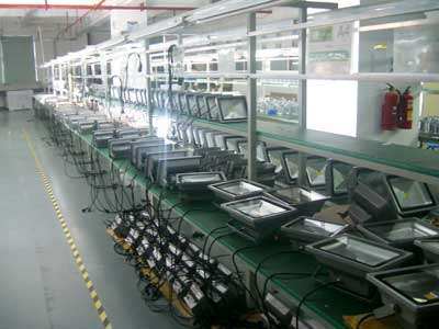 outdoor lights manufacturer production-line for led flood lights