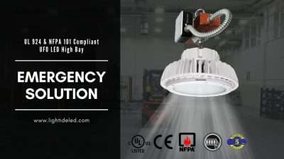 Lightide Emergency led high bay lights battery backup 100W-240W
