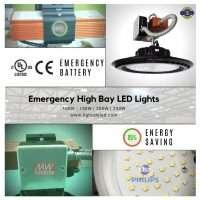 Lightide DLC-CE emergency UFO led high bay light battery backup 100W-240W-2