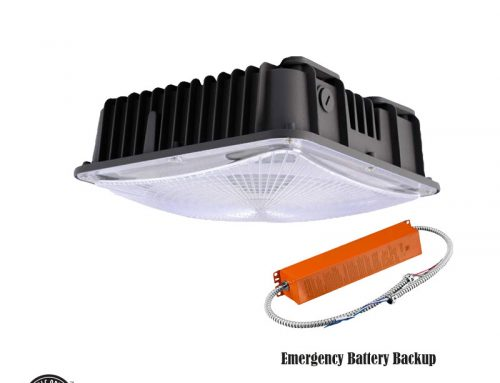 LED Garage Light Fixtures Emergency Canopy Battery Backup