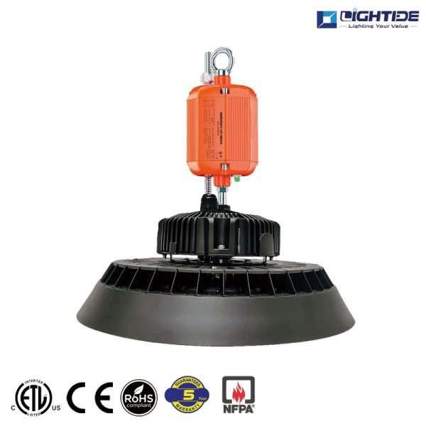 Lightide-170-LPW-of-UFO-LED-high-bay-Emergency-Batery-backup