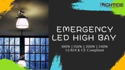 Lightide Emergency led high bay Luminaire 100w-150w-200w-240w
